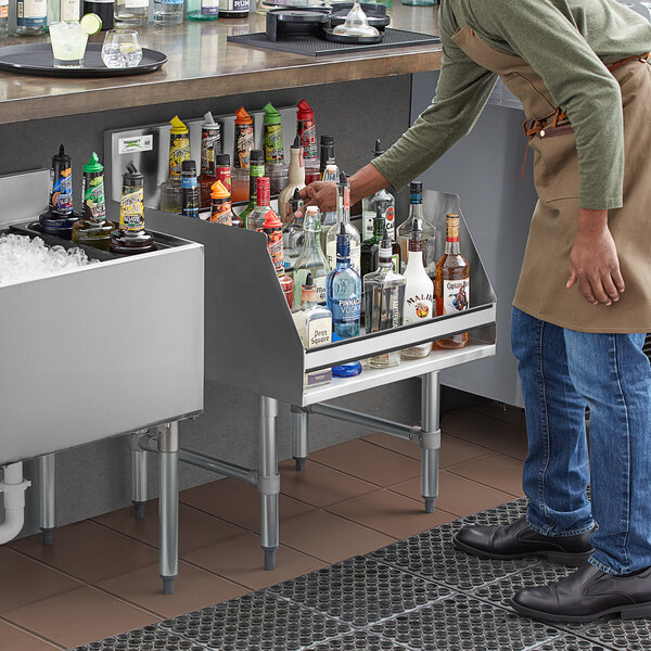 "Regency 24"" Five-Tiered Stainless Steel Liquor Display Rack - 26"" Deep Main Image 4"