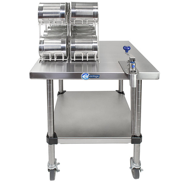 Edlund EDCS-2M Mobile Can Opening Station with SG-2 Light-Duty Manual Can Opener Main Image 1