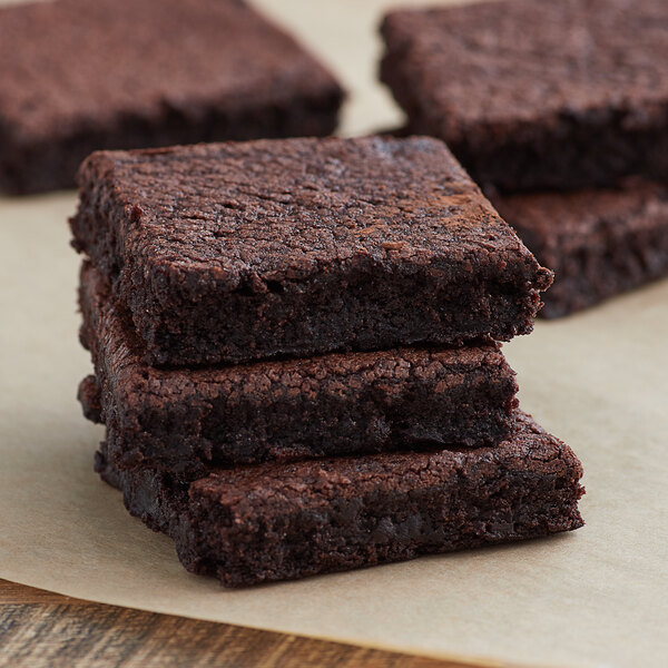 Spring Glen Fresh Foods 2 lb. Fudge Brownie Tray - 2/Case Main Image 2