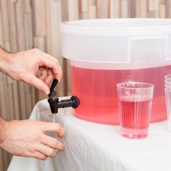Carlisle 221930 3 Gallon See-Thru Round Beverage Dispenser (No Base) Main Image 3