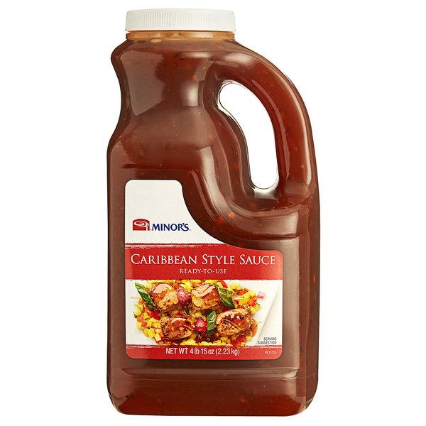 Minor's 1/2 Gallon Caribbean Style Sauce - 4/Case Main Image 1