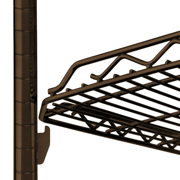 "Metro HDM2136Q-DCH qwikSLOT Drop Mat Copper Hammertone Wire Shelf - 21"" x 36"""