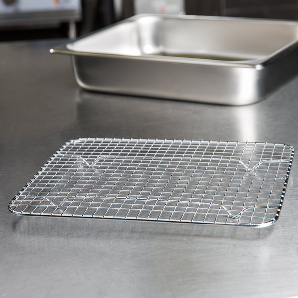 "Footed Cooling Rack / Pan Grate for Steam Table Pan - 8 1/4"" x 10 1/2"""