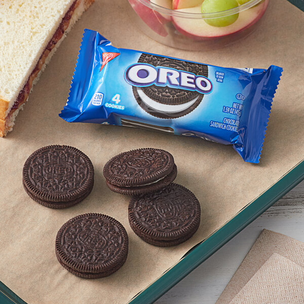 Nabisco Oreo 4-Count (1.59 oz.) Cookie Snack Pack - 120/Case Main Image 3