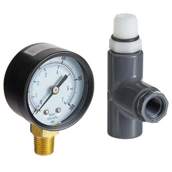 C Pure Oceanloch Water Filter Outlet Kit with Tee, Nipple, and Pressure Gauge Main Image 1