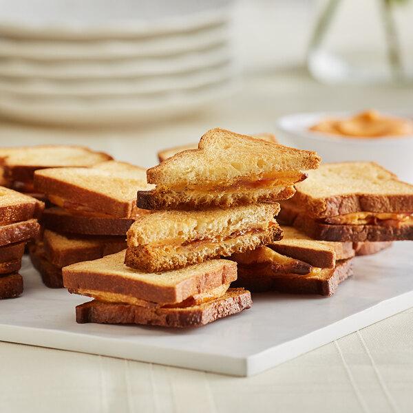 Les Chateaux de France 0.75 oz. Bacon Grilled Cheese Sandwich - 90/Case Main Image 2
