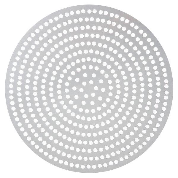 "American Metalcraft 18909SP 9"" Super Perforated Aluminum Pizza Disk Main Image 1"