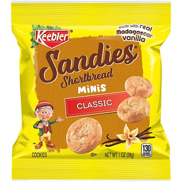 Keebler Mini Sandies 1 oz. Shortbread Cookie Snack Pack - 100/Case Main Image 1