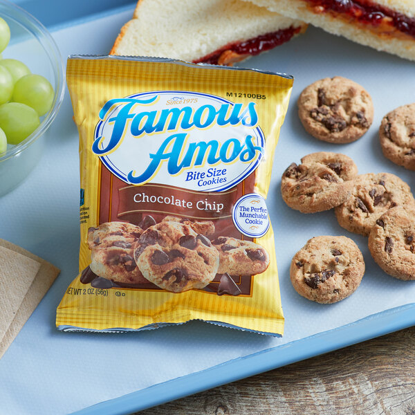 Famous Amos® 2 oz. Chocolate Chip Cookie Snack Pack - 60/Case Main Image 2