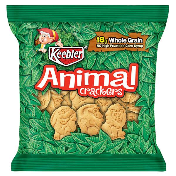 Keebler 1 oz. Animal Crackers Snack Pack - 150/Case Main Image 1