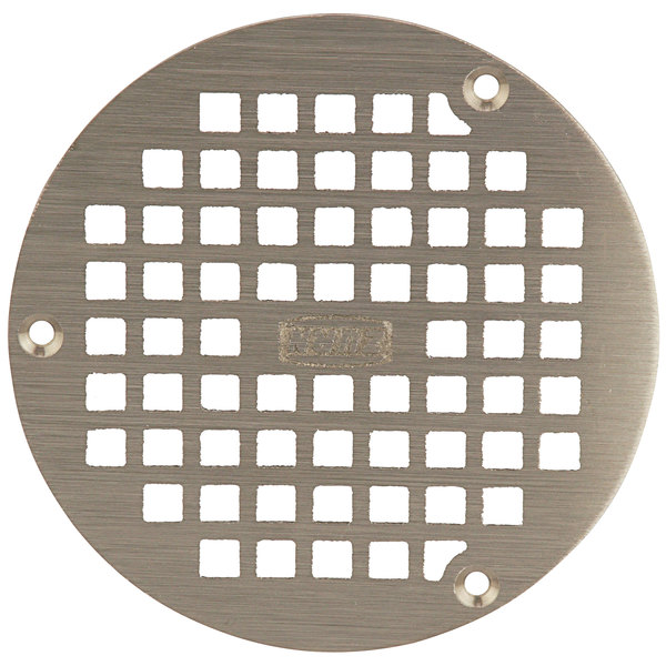 "Zurn PN400-5B-STR-W/SCR 5"" Round Type B Polished Nickel Bronze Grate with Screws for Z400 Floor Drains Main Image 1"