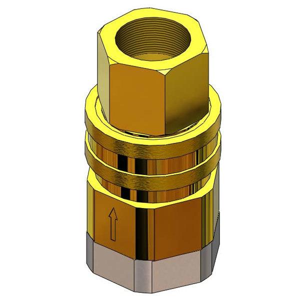 """T&S AG-5E Safe-T-Link 1"""" NPT Quick Disconnect Gas Hose Component Main Image 1"""