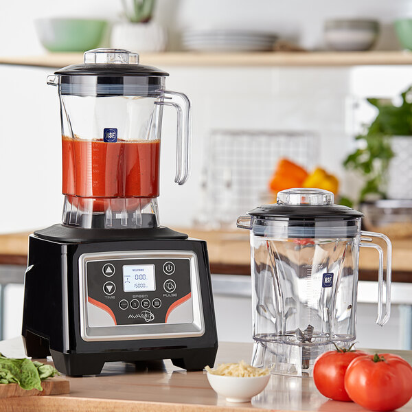 Avamix BX1100E2J 3 1/2 hp Commercial Blender with Touchpad Control and Two 48 oz. Polycarbonate Containers Main Image 4