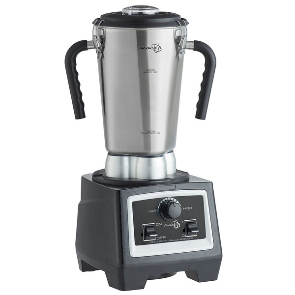 Avamix HSS1G2VS 3 3/4 hp 1 Gallon Stainless Steel High Volume Commercial Food Blender with Variable Speed Controls and Timer - 120V Main Image 1