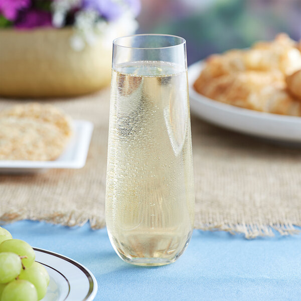 YHCS 9pcs pl/ástico Champagne Glass Transparent Footless Champagne Cup Sparkling Glass Long Beer Cup Siudo-Neossco.