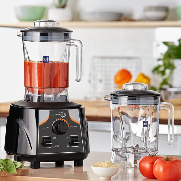 Avamix BX1000V2J 3 1/2 hp Commercial Blender with Toggle Control, Adjustable Speed, and Two 48 oz. Polycarbonate Containers Main Image 4