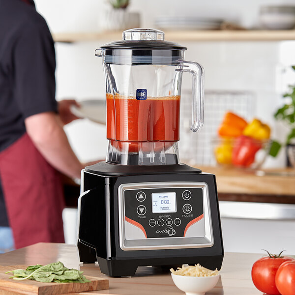Avamix BX1100E 3 1/2 hp Commercial Blender with Touchpad Control and 48 oz. Polycarbonate Container Main Image 4