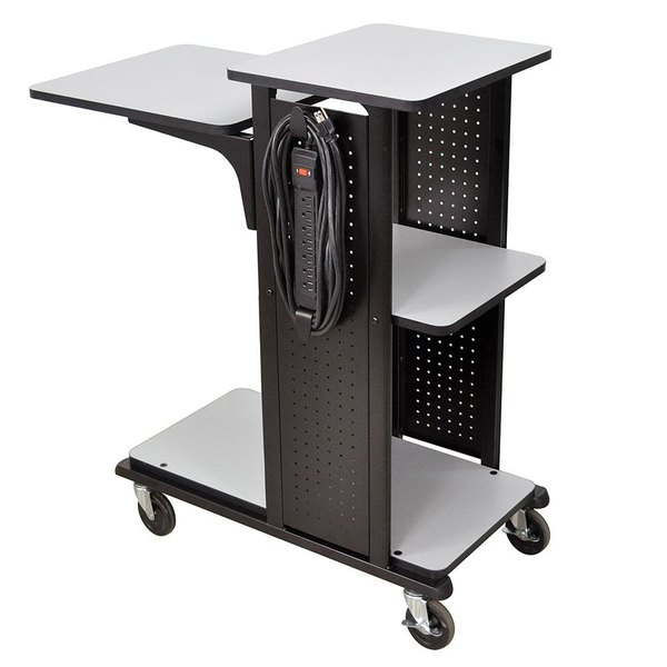 "Luxor WPS4HDE Presentation Station Cart - 34"" x 18"" x 38"" Main Image 1"