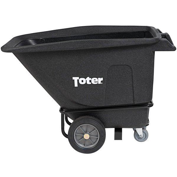 Toter UT205-00BKS 0.5 Cubic Yard Blackstone Heavy-Duty Tilt Truck with Handle (1200 lb.) Main Image 1