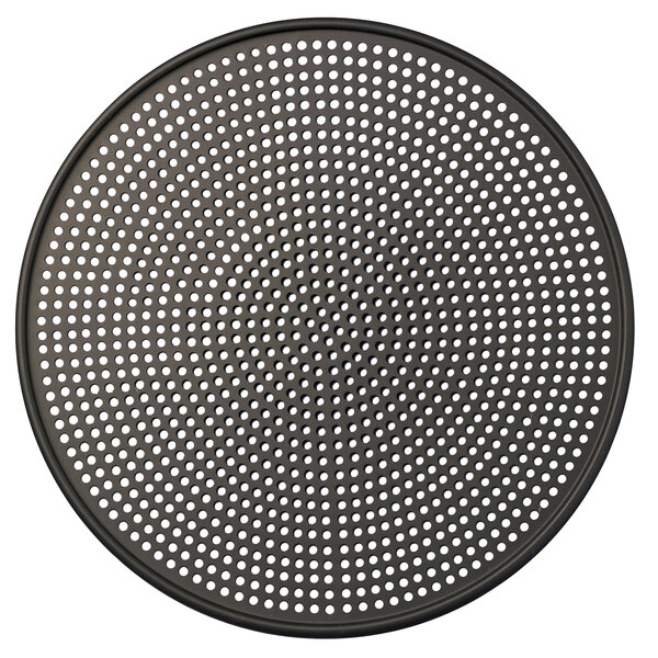 "American Metalcraft HC28707 7"" Hard Coat Anodized Aluminum Mega Pizza Screen Main Image 1"