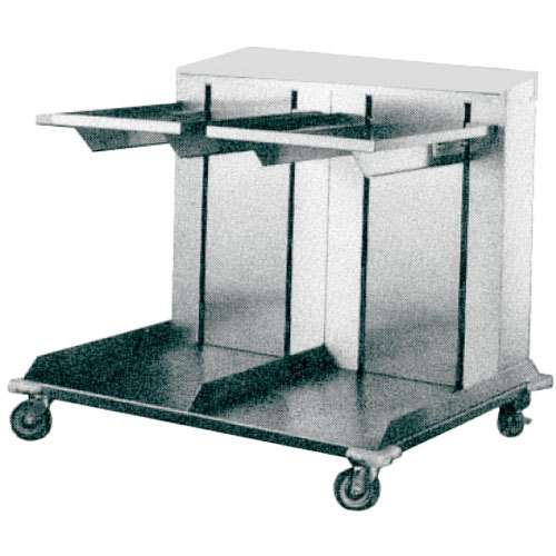 "APW Wyott Lowerator CTRD-1014 Double Mobile Open Cantilever Tray Dispenser for 10"" x 14"" Trays Main Image 1"