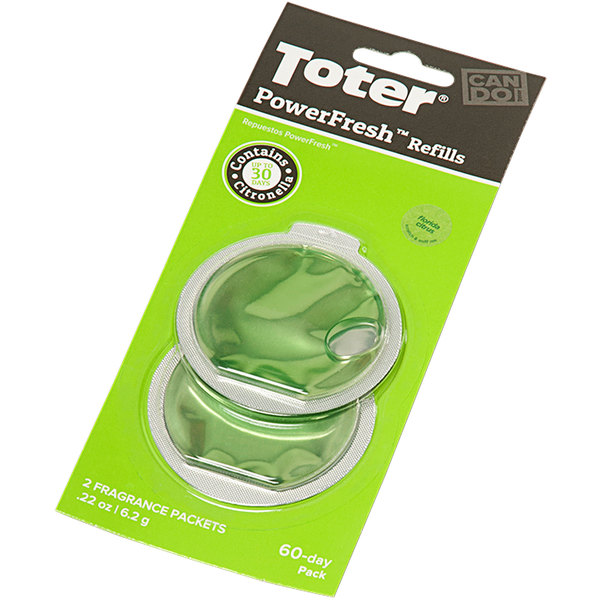 Toter PFRF0-15ICI PowerFresh Citrus Scented Odor Eliminator Refill - 2/Pack Main Image 1
