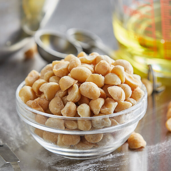 15 lb. Dry Roasted Unsalted Macadamia Nuts Main Image 2