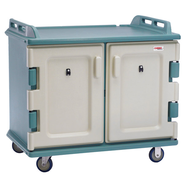 Cambro MDC1418S20192 Granite Green Meal Delivery Cart 20 Tray