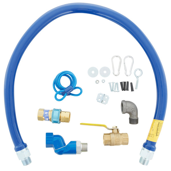 """Dormont 1675KITS48 Deluxe SnapFast® 48"""" Gas Connector Kit with Swivel MAX®, Elbow, and Restraining Cable - 3/4"""" Diameter"""