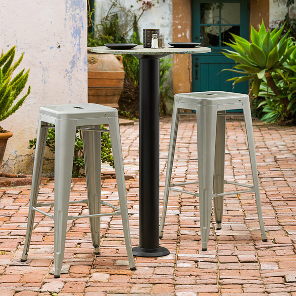 """Lancaster Table & Seating Millennium Bolt Down 4"""" Bar Height Column Outdoor Table Base Main Image 2"""
