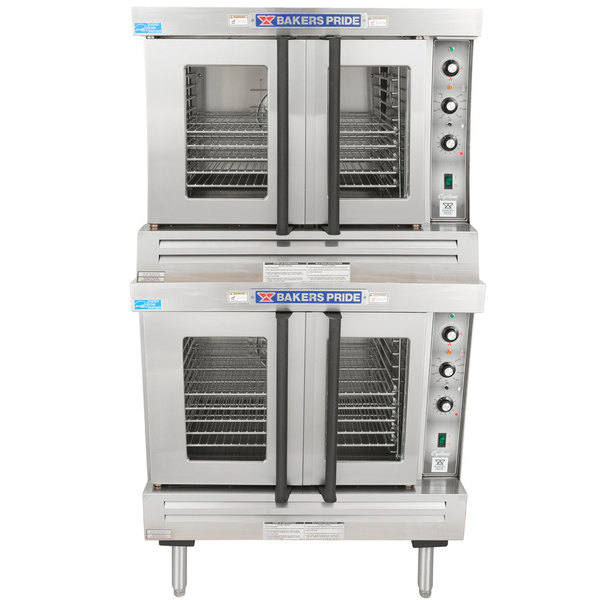 Bakers Pride GDCO-E2 Cyclone Series Double Deck Full Size Electric Convection Oven - 220-240V, 1 Phase, 21 kW