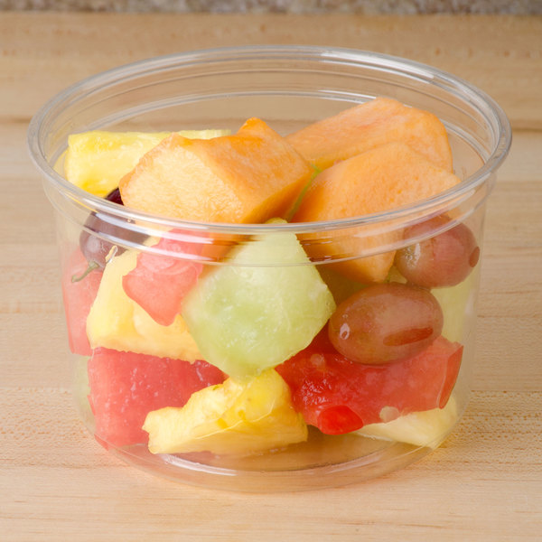 Bare by Solo DM16R-0090 16 oz. Clear Deli Container Recycled - 500/Case Main Image 2