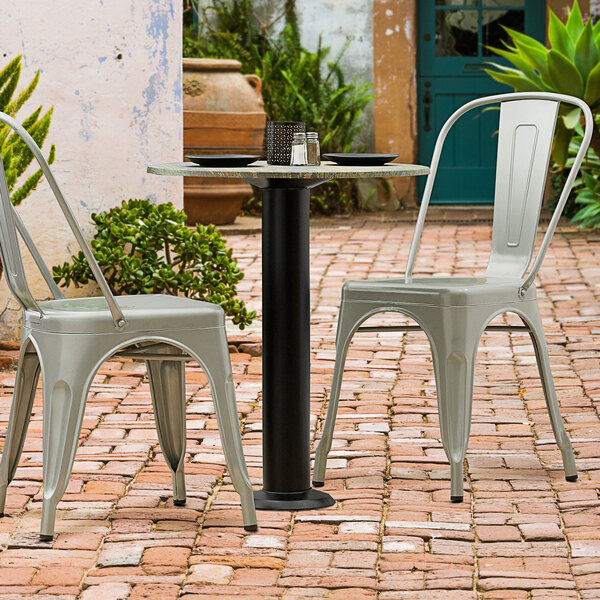 """Lancaster Table & Seating Millennium Bolt Down 4"""" Table Height Column Outdoor Table Base Main Image 2"""