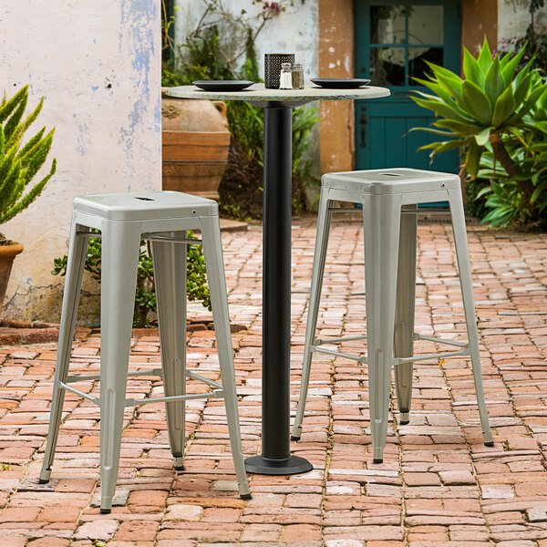 "Lancaster Table & Seating Millennium Bolt Down 3"" Bar Height Column Outdoor Table Base Main Image 2"