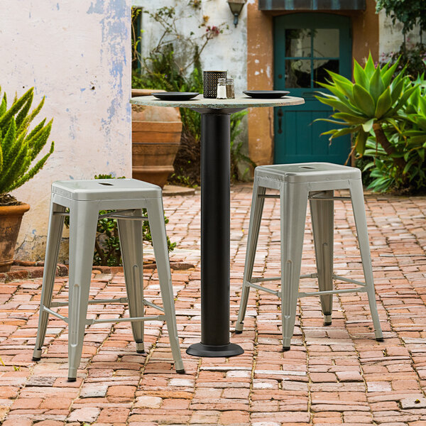 """Lancaster Table & Seating Millennium Bolt Down 4"""" Counter Height Column Outdoor Table Base Main Image 2"""