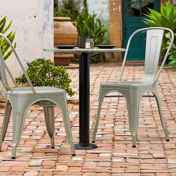 """Lancaster Table & Seating Millennium Bolt Down 3"""" Table Height Column Outdoor Table Base Main Image 2"""