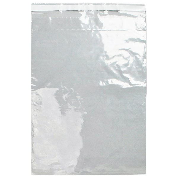 """LK Packaging LABAC221318 2 Mil 13"""" x 18"""" Tamper-Evident Unprinted 2-Wall Clear Specimen Transfer Bag with Adhesive Closure - 1000/Case Main Image 1"""