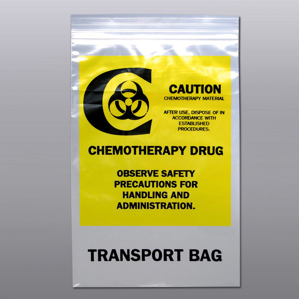 "LK Packaging F41215CTB 12"" x 15"" Seal Top Chemotherapy Drug Transfer Bag - 500/Case Main Image 1"