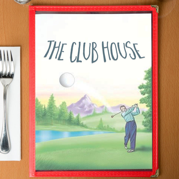"8 1/2"" x 11"" Menu Paper - Country Club Themed Golf Design Cover - 100/Pack"