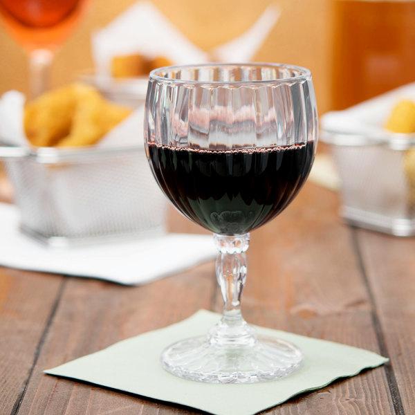 GET SW-1421 (SW1421) SAN Plastic 8 oz. Fluted Wine Glass - 24/Case