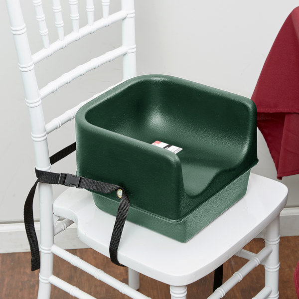 Cambro 100BCS519 Green Plastic Booster Seat - Single Seat with Strap