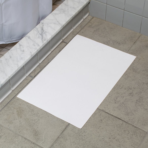 "Hoffmaster 851000 14 1/4"" x 20"" Hotel and Motel Disposable White Bath Mat - 500/Case"