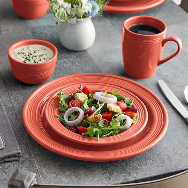 Acopa Capri Coral Reef China Dinnerware Set with Service for 12 - 48/Pack Main Image 2