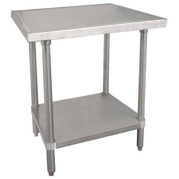 "Advance Tabco VLG-300 30"" x 30"" 14 Gauge Stainless Steel Work Table with Galvanized Undershelf"