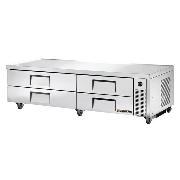 """True TRCB-82 82"""" Four Drawer Refrigerated Chef Base"""