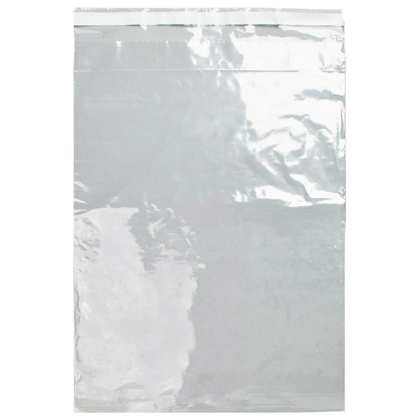 """LK Packaging LABAC220606 Lab-Loc 6"""" x 6"""" Tamper-Evident Unprinted 2-Wall Clear Specimen Transfer Bag with Adhesive Closure - 1000/Case Main Image 1"""