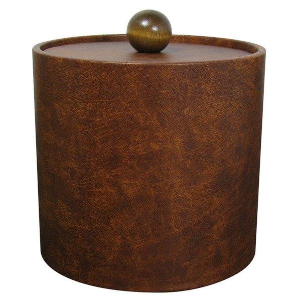 3 Qt. Light Brown Vinyl Insulated Ice Bucket Main Image 1