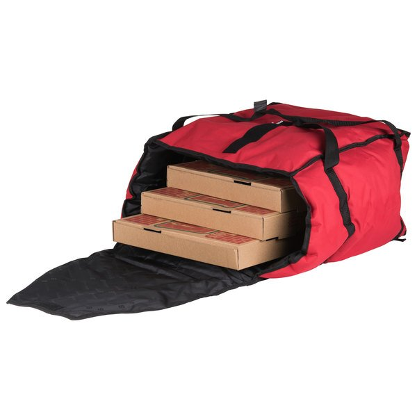 San Jamar Pb20 12 20 X 18 Insulated Red Pizza Delivery Bag Nylon