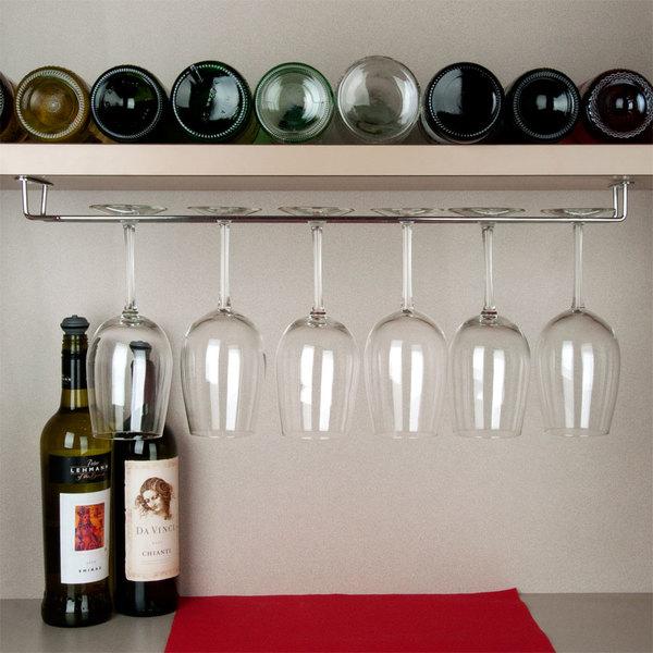"""24"""" Chrome Plated Glass Hanger Rack"""