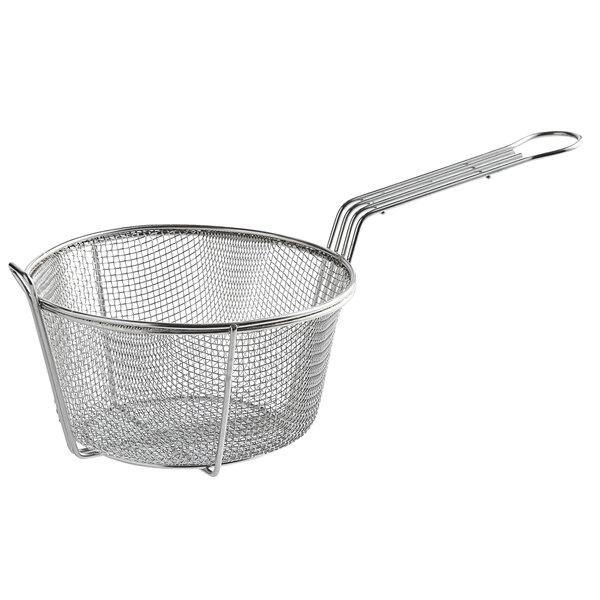 Carlisle 601000 8 5 8 Round Chrome Plated Steel Coarse Mesh Culinary Basket